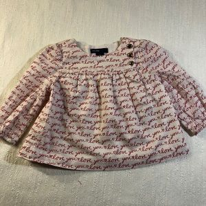 Baby GAP Long Sleeve Love Tunic Size 3-6 Month